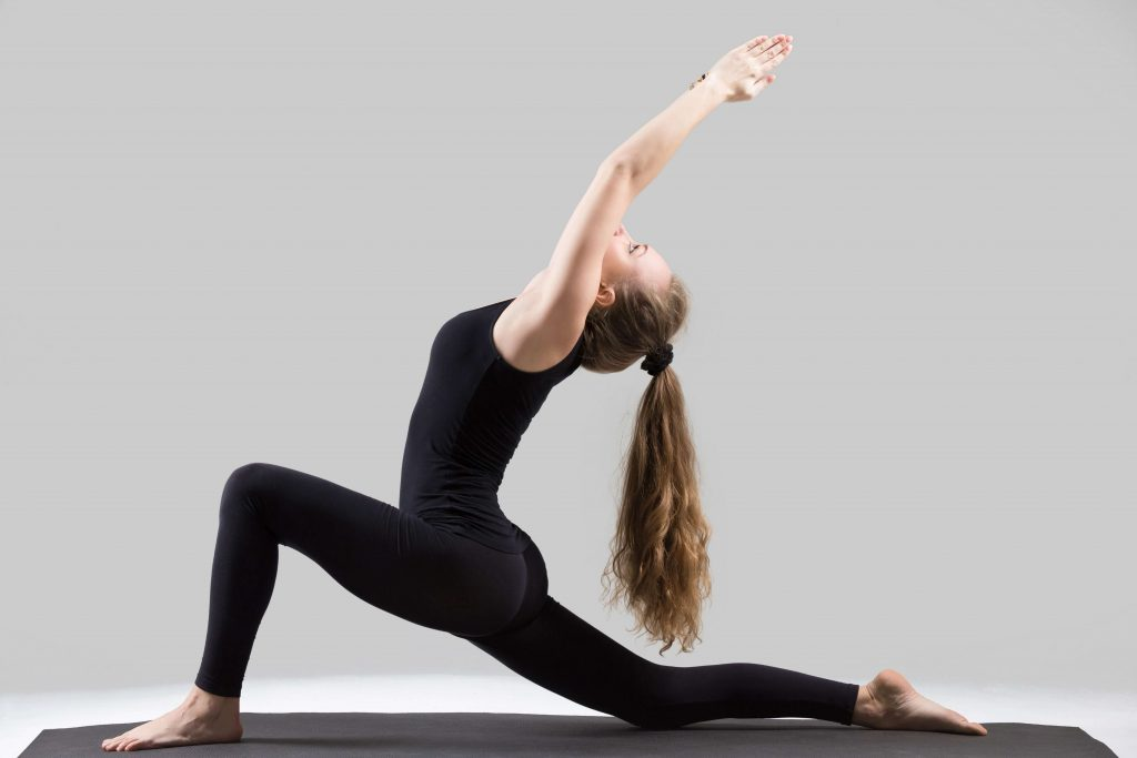 Anjaneyasana (Low Lunge Pose) or Crescent Moon Yoga Pose
