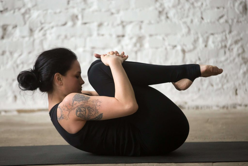 Pavanamuktasana (Vatayanasana or Wind-Relieving Pose Or Gas Release Posture)